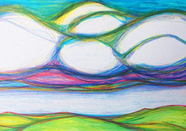 Laura Chalk. Laura's Creative Cottage. Clouds. Big sky.